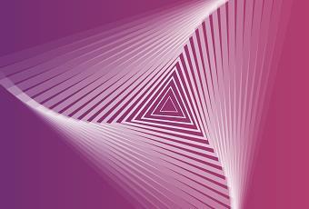 HTML前端三角形螺旋放大效果代码