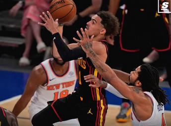 NBA2021季后赛首战-特雷杨读秒抛投绝杀尼克斯
